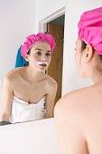 woman with facial hair